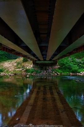 120727 Rapps Covered Bridge hdr 12 - Under the Bridge