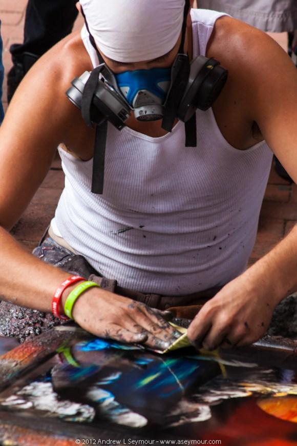 Spray Paint Artist - Closeup