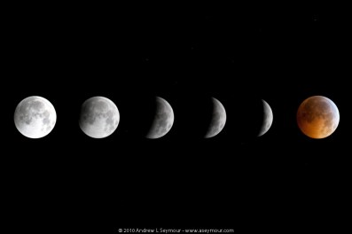Phases of Moon during a Lunar Eclipse (2010 Winter Solstice)