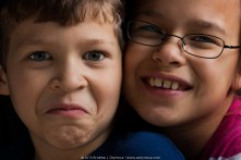 Brother and Sister portraits