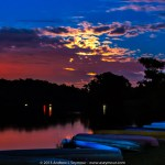 Canoes at Super Moon Rise 2013 - 01