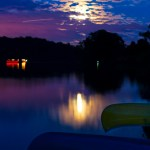 Canoes at Super Moon Rise 2013 - 02