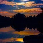 Canoes at Super Moon Rise 2013 - 04