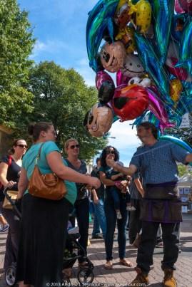 Buying balloons