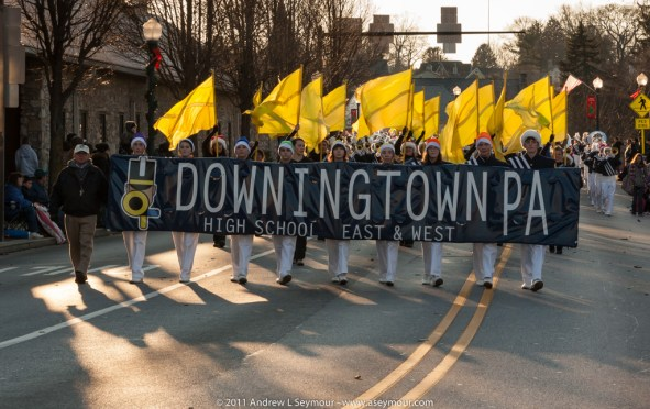 2011 Downigtown Christmas parade in Chester County, PA