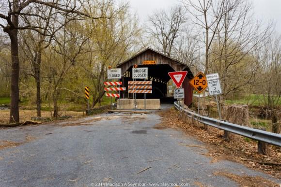 Bridge Closed signs at Speakman #1