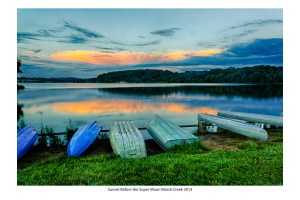 Images taken at Marsh Creek State Park during a sunset.