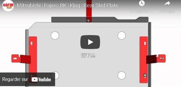 VIDEO ASFIR.EU – Mitsubishi | Pajero BK | Roi | Plaque de protection arrière