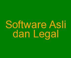 Software Asli dan Legal