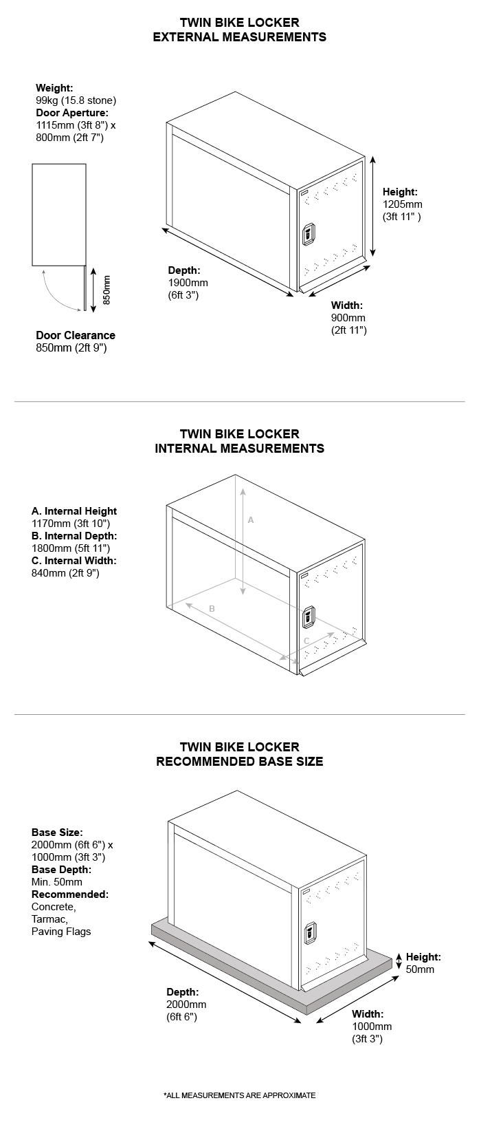 hight resolution of double bike shelter dimensions