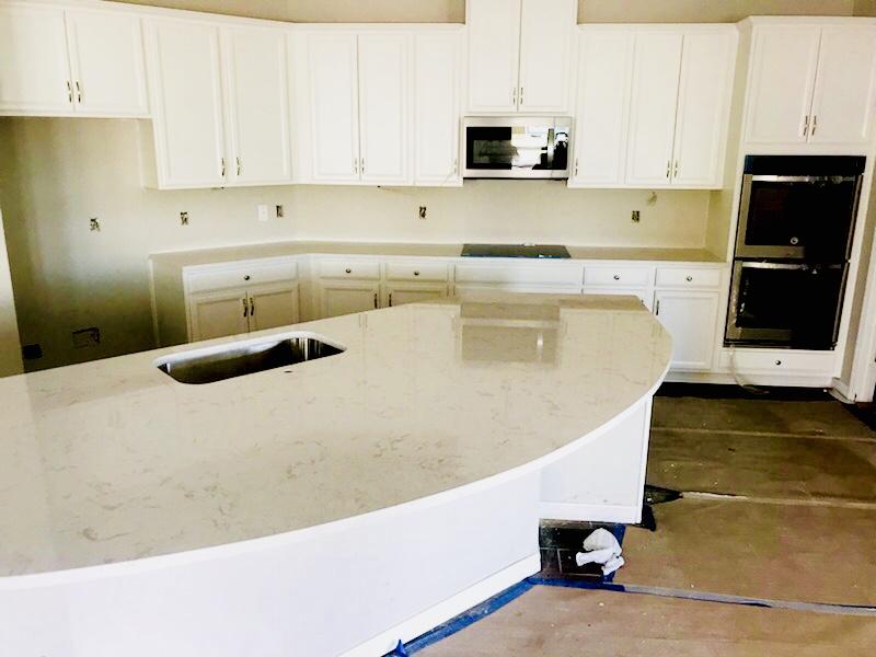 Cambria Torquay quartz kitchen countertop installation in Riverview