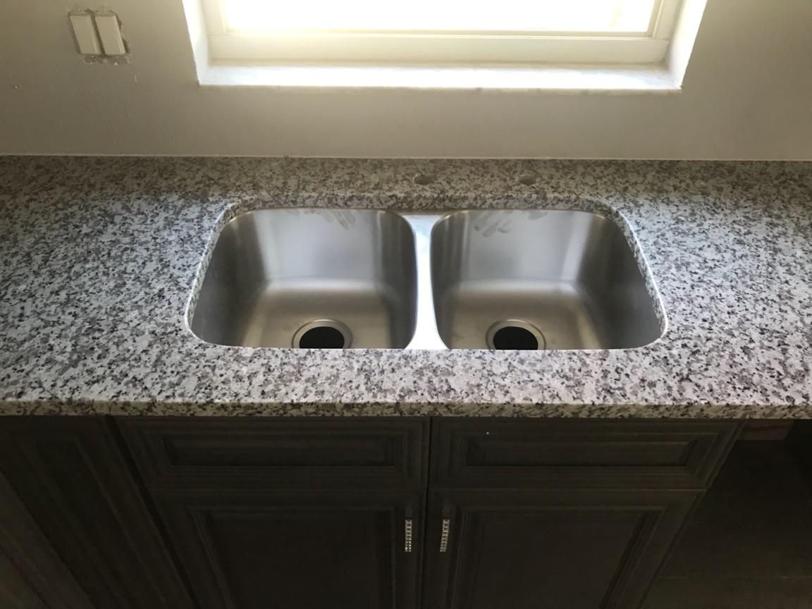Salt and Pepper granite kitchen countertop installation in Land O ...