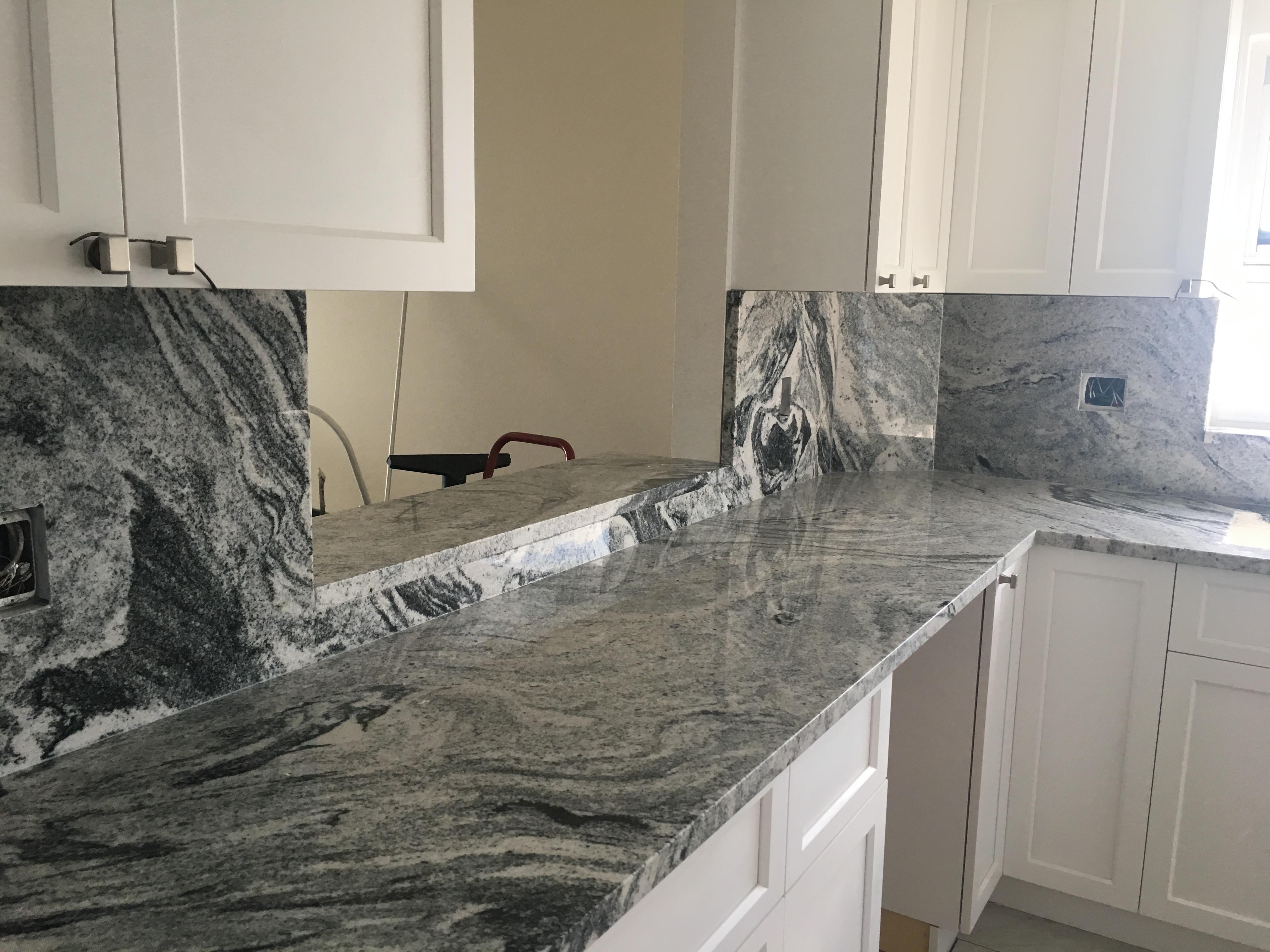 Viscount White kitchen granite counter top remodel in Largo Fl A&S