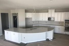 Cambria Torquay quartz kitchen countertop installation in Brandon Fl