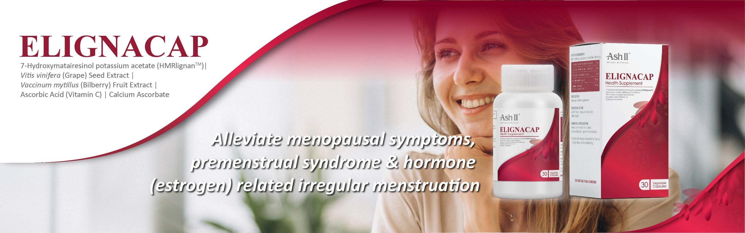 ELIGNACAP - Alleviate menopausal symptoms, premenstrual syndrome, irregular menstruation