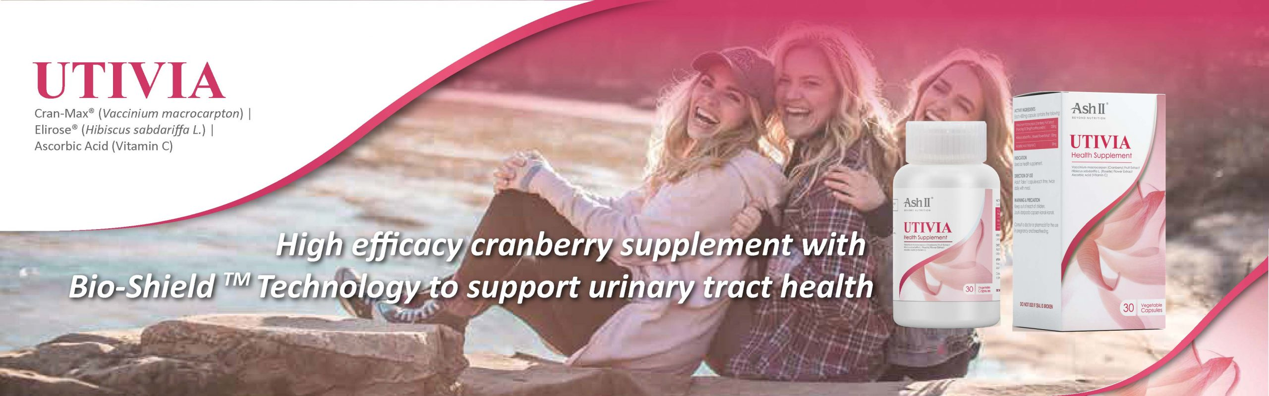UTIVIA - Cranberry Supplement to Support Urinary Tract Health