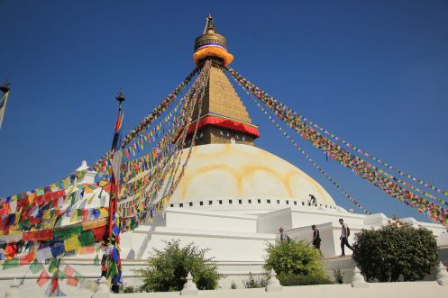 Boudhanath Stupa in the east of Kathmandu is one of the most iconic sights.