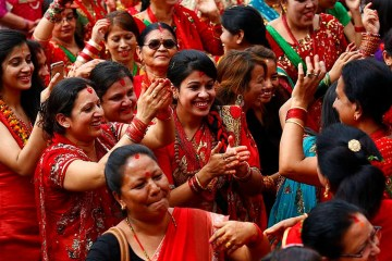 Today is Teej, aka Haritalika, literally Nepal's women's day