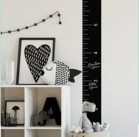Wall decals - growth chart ruler