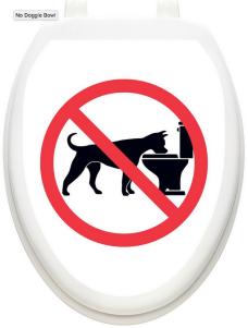 Toilet Tattoos- no dog bowl