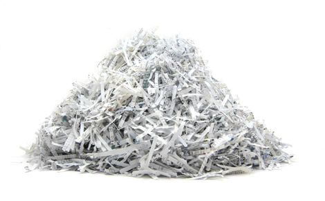 shredding personal documents