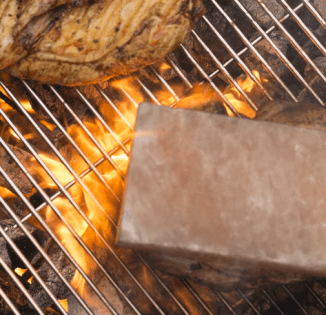 grilling with salt