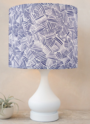Criss cross watercolor · lampshades minted com criss cross pattern sm
