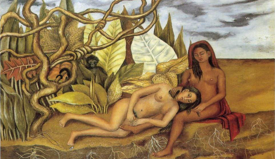 Two Nudes in a Forest - Frida Kahlo