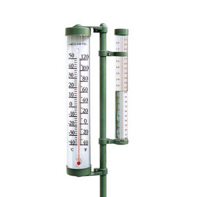 Gardening-Equipment---AcuRite-rain-gauge-thermometer