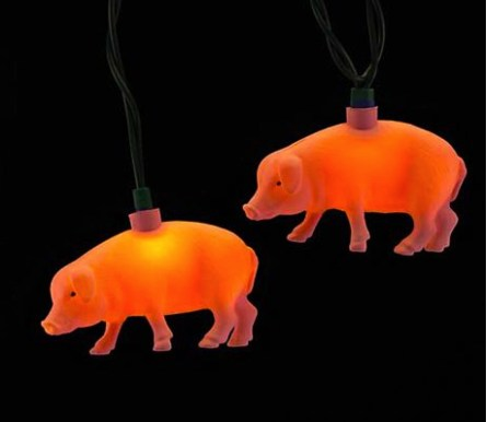 Party String Lights - Pink Pig string lights