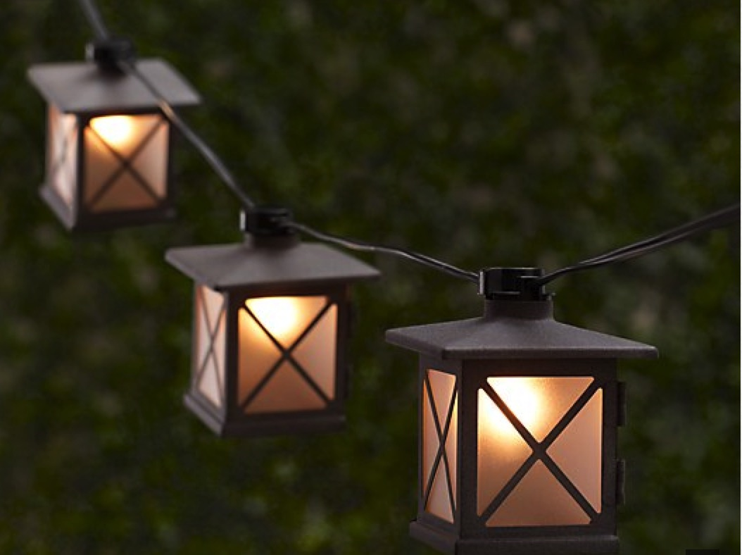 Lantern string lights - These Avignon String Lights Are Miniature Versions Of Lights Seen In Europe S Plazas And Countryside Each String Is 11 Each Lantern Is 3 25 Square And