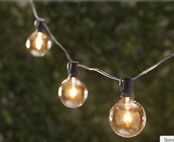Party String Lights - Thos. Baker round party lights