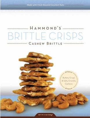 Snacks for the summer - Hammonds Cashew Brittle