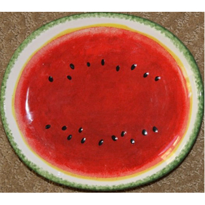 Watermelon-motif---serving-platter