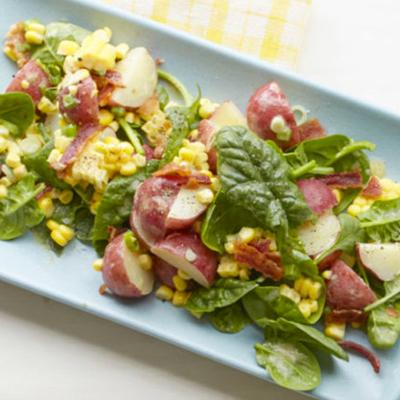 Summer-Salads---SpinachPotatoCornSalad