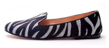 Womens-Slipper-Loafers---Zebra-French-Soles