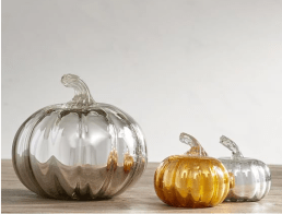 Decorative pumpkins blown glass