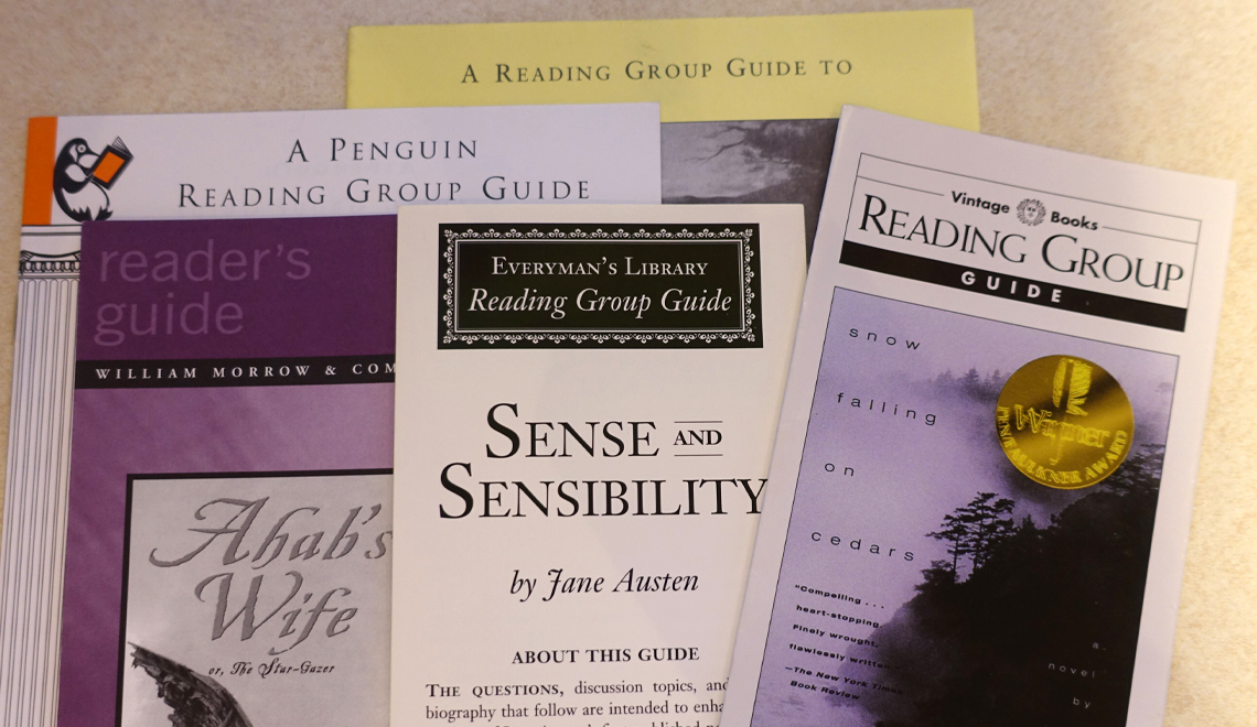 Guides to book groups reading discussions