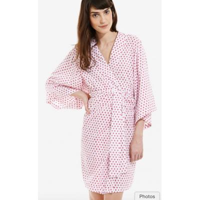 Polka dot kimono style robe