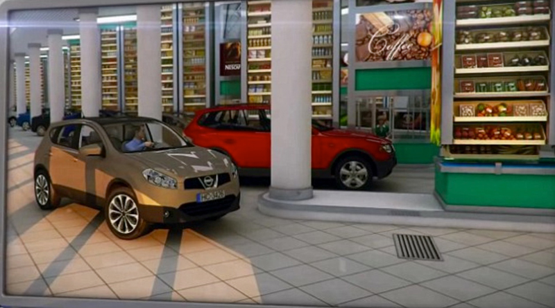 cars in the supermarket