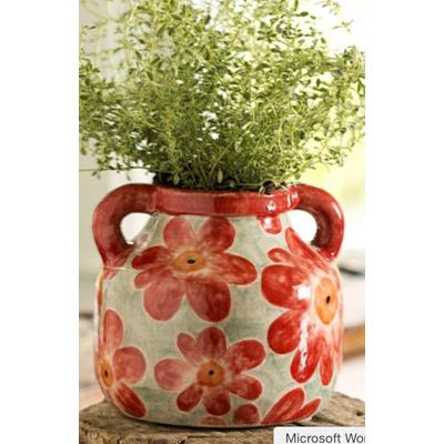 handcrafted floral vase