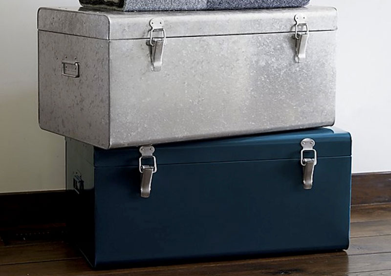 metal multipurpose storage trunks
