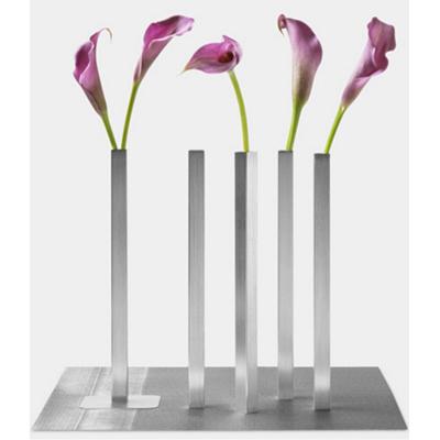 5 aluminum bud vases