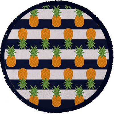 Pottery Barn Round Pineapple Towel
