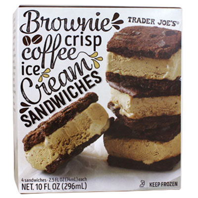Summer snacks brownie crisp coffee ice cream sandwiches