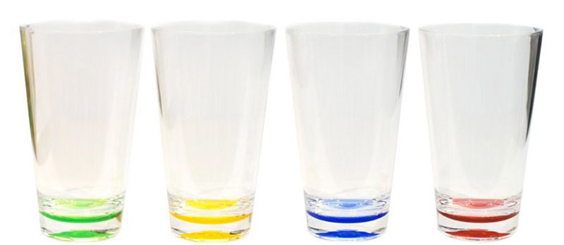fancy acrylic glasses, colors