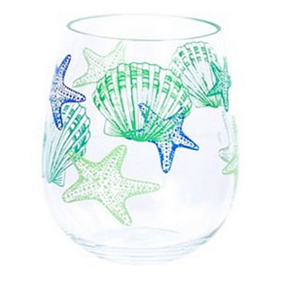 fancy acrylic glasses, starfish