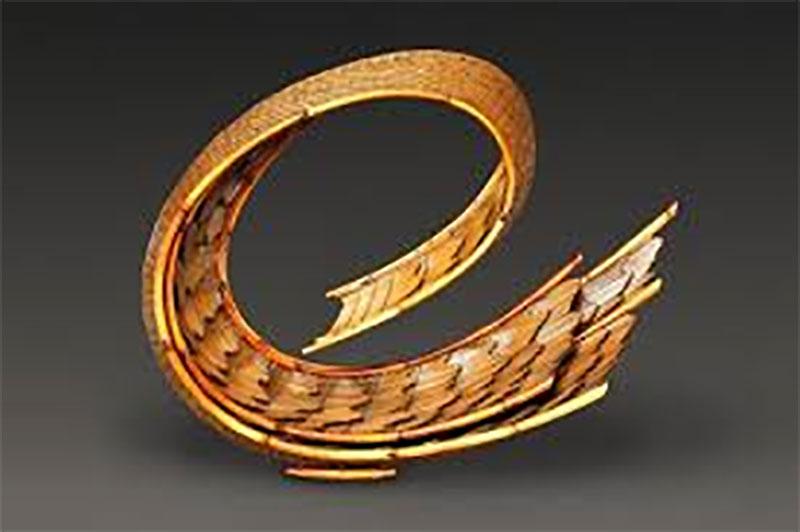 Japanese Bamboo Flowing Basket