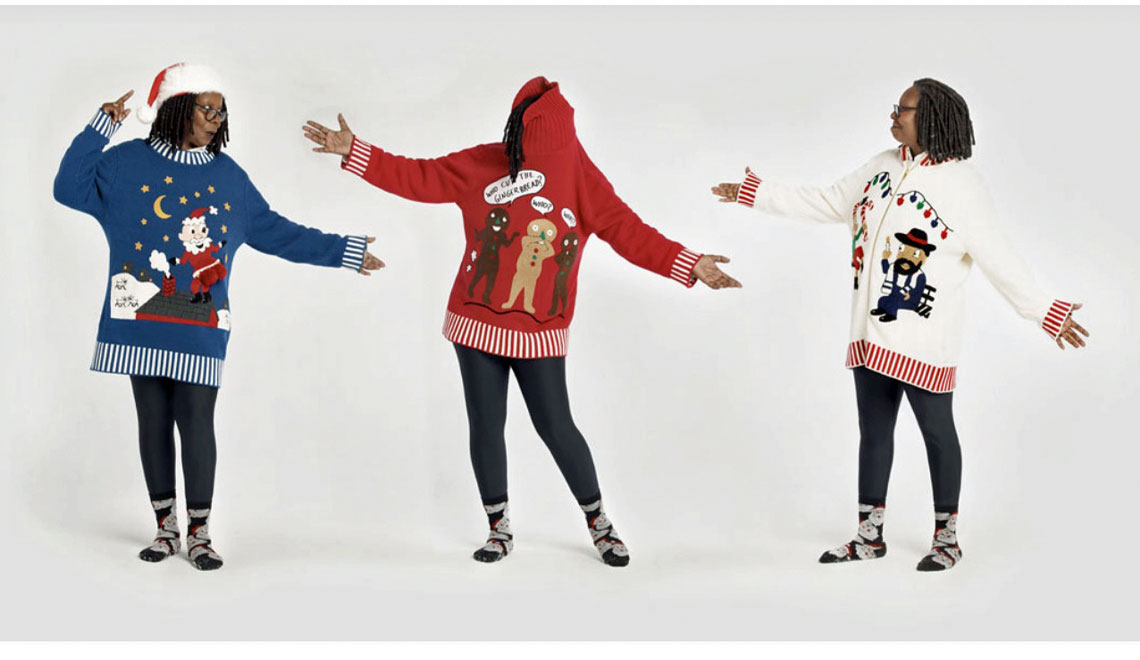 Whoopi's Ugly Holiday Sweaters