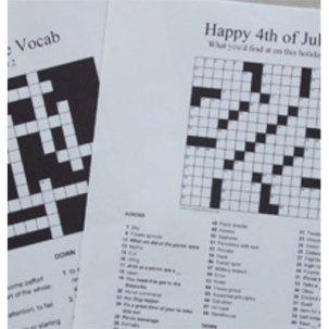 custom crossword puzzle for surprising stocking stuffer ideas